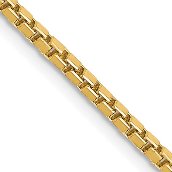14K 30 inch 1.9mm Box with Lobster Clasp Chain